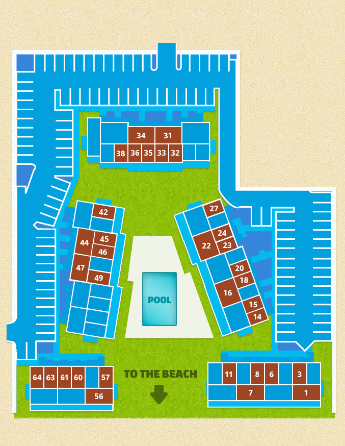 site plan of the vacation rentals
