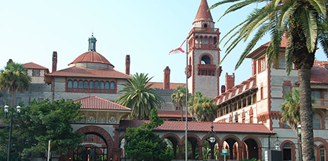 The Flagler College is one of the historical buildings in St. Augustine